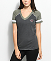Empyre Janet Babe Vibes Olive V-Neck T-Shirt