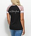 Empyre Janet Looking Mauve & Black V-Neck T-Shirt