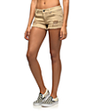 Empyre Jenna Khaki Destructed Shorts