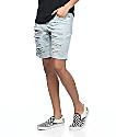 Empyre Kali Destroyed Boyfriend Light Wash Denim Shorts
