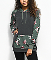 Empyre Larissa Olive Floral & Charcoal Hoodie