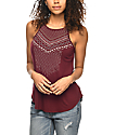 Empyre Manuela Tribal Print Burgundy Tank Top