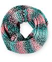 Empyre Mint & Multi Chunky Knit Infinity Scarf