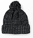 Empyre Morley Black & Charcoal Pom Beanie