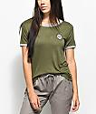 Empyre Paulie Chill camiseta ringer en verde olivo