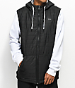 Empyre Peak Quilted Black & White Tech Fleece Hoodie