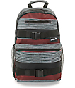 Empyre Quantum Burgundy Stripe Backpack