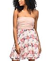 Empyre Ronia Mauve Palm Floral Tie Tube Dress