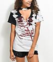 Empyre Rose Black Tie Dye Choker T-Shirt