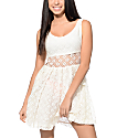 Empyre Sabina White Crochet Dress