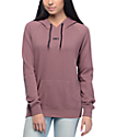 Empyre Seeley Yin Yang Elbow Patch Rose Taupe Hoodie
