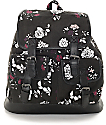 Empyre Serene Black Floral Rucksack Backpack