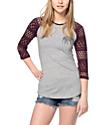 Empyre Sheffield Blackberry & Grey Baseball T-Shirt
