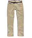Empyre Skeletor Khaki Bedford Skinny Fit Pants