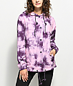 Empyre Sofiana Burgundy & Pink Tie Dye Hooded Coaches Jacket