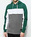 Empyre Sophomore Green, White & Grey Hoodie