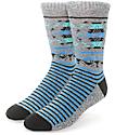 Empyre Switchback Marled Grey, Blue, & Green Crew Socks