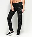 Empyre Tessa Distressed Black Bleach Splatter Skinny Jeans