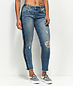 Empyre Tessa Race Day Fray Ankle Skinny Jeans