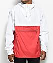 Empyre Transparent White & Red Anorak Jacket