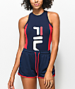 FILA Carinne Navy & Red Bodysuit