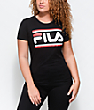 FILA Double Stripe Black T-Shirt