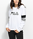 FILA Newton White Crew Neck Sweatshirt