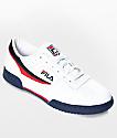 FILA Original Fitness White & Navy Shoes