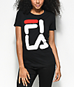 FILA Square Logo Black T-Shirt