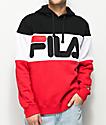 FILA Trayton Black, Red & White Hoodie
