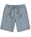 Free World Glassy Blue Stretch Hybrid Shorts