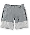 Free World Gold Coast Grey and Charcoal Hybrid Shorts