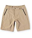 Free World Mavericks Dark Khaki Tech Hybrid Shorts