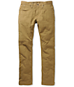 Free World Messenger Dark Khaki Skinny Twill Pants