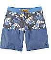 "Free World Shortboard Navy Floral 20""  Board Shorts"