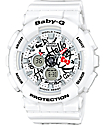 G-Shock Baby-G X Hello Kitty BA-120KT-7A White Watch