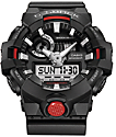 G-Shock GA700-1A Front Button Black & Red Watch