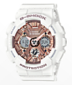 G-Shock GMAS120MF-7A White & Rose Gold Watch