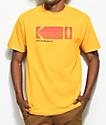 Girl x Kodak Heritage camiseta en color amarillo