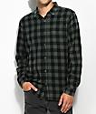 Globe Barkly Vintage Green Flannel Shirt