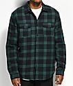 Globe Camden II Green & Black Sherpa Flannel Jacket