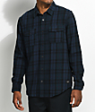 Globe Flanigan Marine & Black Flannel Shirt