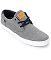 Globe Willow Black Chambray & White Skate Shoes
