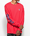 Grizzly Behind The Arc Red Long Sleeve T-Shirt