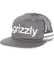 Grizzly Heritage Grey Mesh Snapback Hat