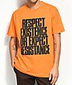 HSTRY Respect Orange T-Shirt