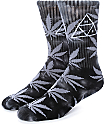 HUF 420 Triple Triangle Black Smoke Crew Socks
