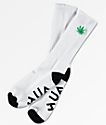 HUF C'mon Plantlife White Crew Socks