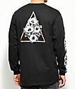 HUF Datura Triangle Black Long Sleeve T-Shirt