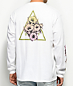 HUF Datura Triangle White Long Sleeve T-Shirt
